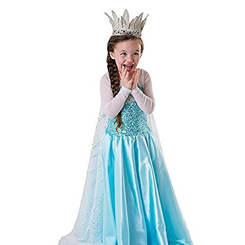 LOEL Girls Princess Costume Puff Sleeve Fancy Birthday Party Dress up (3-4 Years) - http://coolthings.us