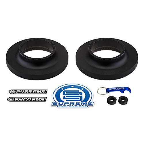 Supreme Suspensions - Front Leveling Kit for 2003-2019 Chevrolet Express and GMC Savana 2' Front Lift Kit T6 Billet Aluminum Spring Spacers 2WD