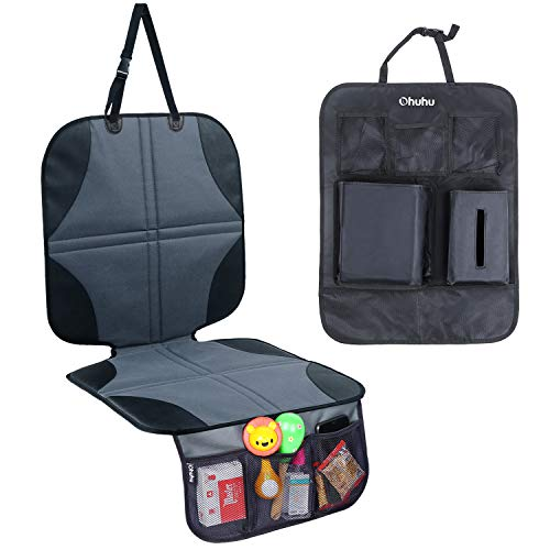 Car Seat Protector and Kick Mat, Ohuhu Auto Seat Cover for Carseats and Kids Kick Mats with Backseat Organizer