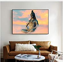 Lord Shiva Wall Art Canvas Paintings Hindu Gods Home Decorative Canvas Art Prints Hinduism Art Pictures for Living Room Cu...