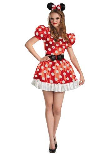 Red Minnie Classic Adult Costume Medium