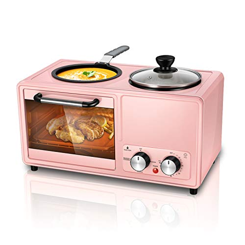 Kacsoo Mini estufa horno multifunción 3 en 1, mini horno multifunción horno...