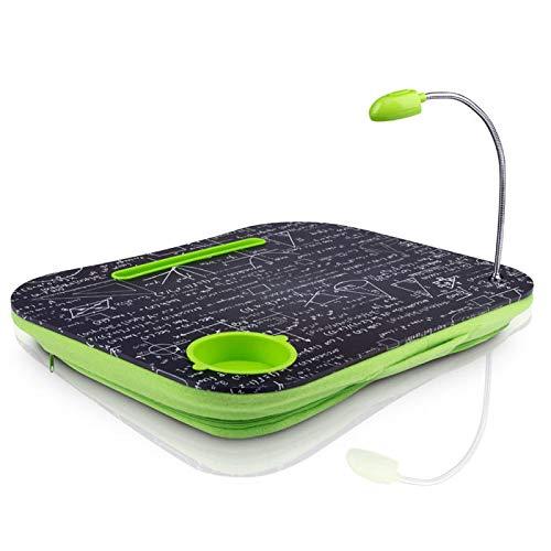 ANANDAYA Soporte Bandeja ergonómica para portátiles, tabletas con luz LED incorporada y Recipiente para Bebidas. Escritorio portátil de Regazo