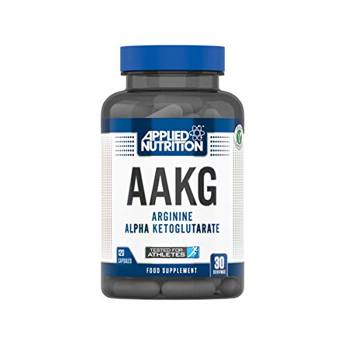 Applied Nutrition AAKG, L Arginine Alpha Ketoglutarate, Amino Acid, Nitric Oxide, Muscle Pump, Extra Strength & Energy, Pre Workout Booster Supplement - 120 Capsules