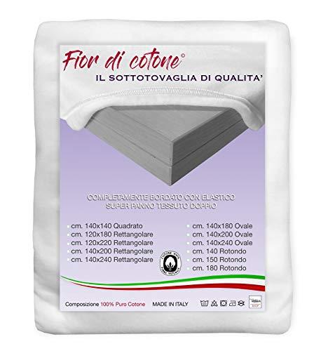 copritavolo molleton pour table carr/é 140/x 140/cm fabriqu/é en Italie