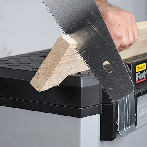 Stanley FatMax Rollende Werkstatt aus Metall-Kunststoff 1-95-622 – Werkzeugwagen leer – Vielseitige Werkzeugbox für Kleinteile und große Werkzeuge - 7