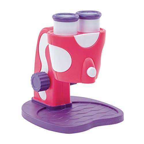 Educational Insights GeoSafari Jr. My First Microscope Pink: Easter Gift, Science Toy, STEM Toy for Preschoolers, Ages 3+