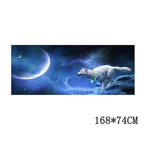 JYKJ Stickers 1pcs Nacht Wolf Totem-Auto-Aufkleber-Auto-Körper Racing Seitentür Lange Streifen Aufkleber Auto Vinyl DecalBack Fenster-Aufkleber cool (Color Name : 168X74CM)