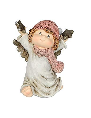 Klp Engel Deko Schutzengel mit Stern Engelfigur Skulptur Weihnachts Figur Elfe Fee