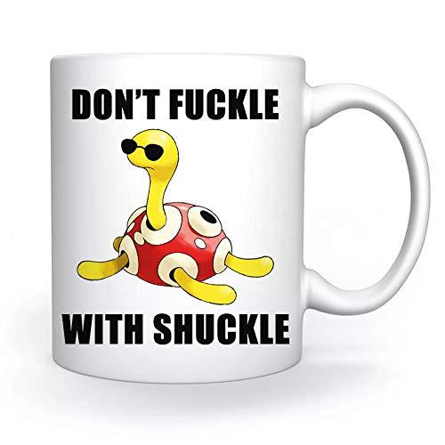 Don't Fuckle With Shuckle Turtle Turtoise Taza Blanco Para el Café Té Capuchino Cacao Mug Coffee Tea Cappuccino