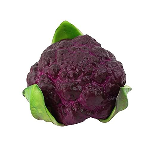 KLHHG Künstliches Gemüse lebensechte realistische Blumenkohl künstliche Lebensmittel Wohnkultur Gemüse (Color : B)