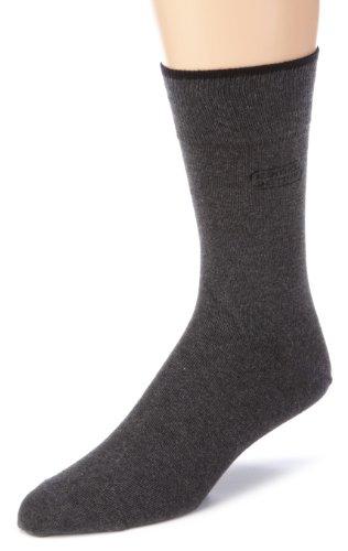 camel active Herren Socken 2 er Pack 6590 / camel active cotton basic 2 pack, Gr. 43-46, Grau (anthracite mottled 620)