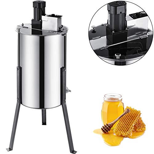 BestEquip Electric Honey Extractor 2 Frames Honey Extractor Stainless Steel Honey Spinner Bee Honey Extraction Separator Beekeeping Equipment with Stand for Beekeeper