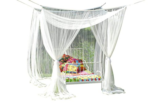 Beautiful Bed Canopy Mosquito protection Dekohimmel for single or double beds. by Leguana Handels GmbH