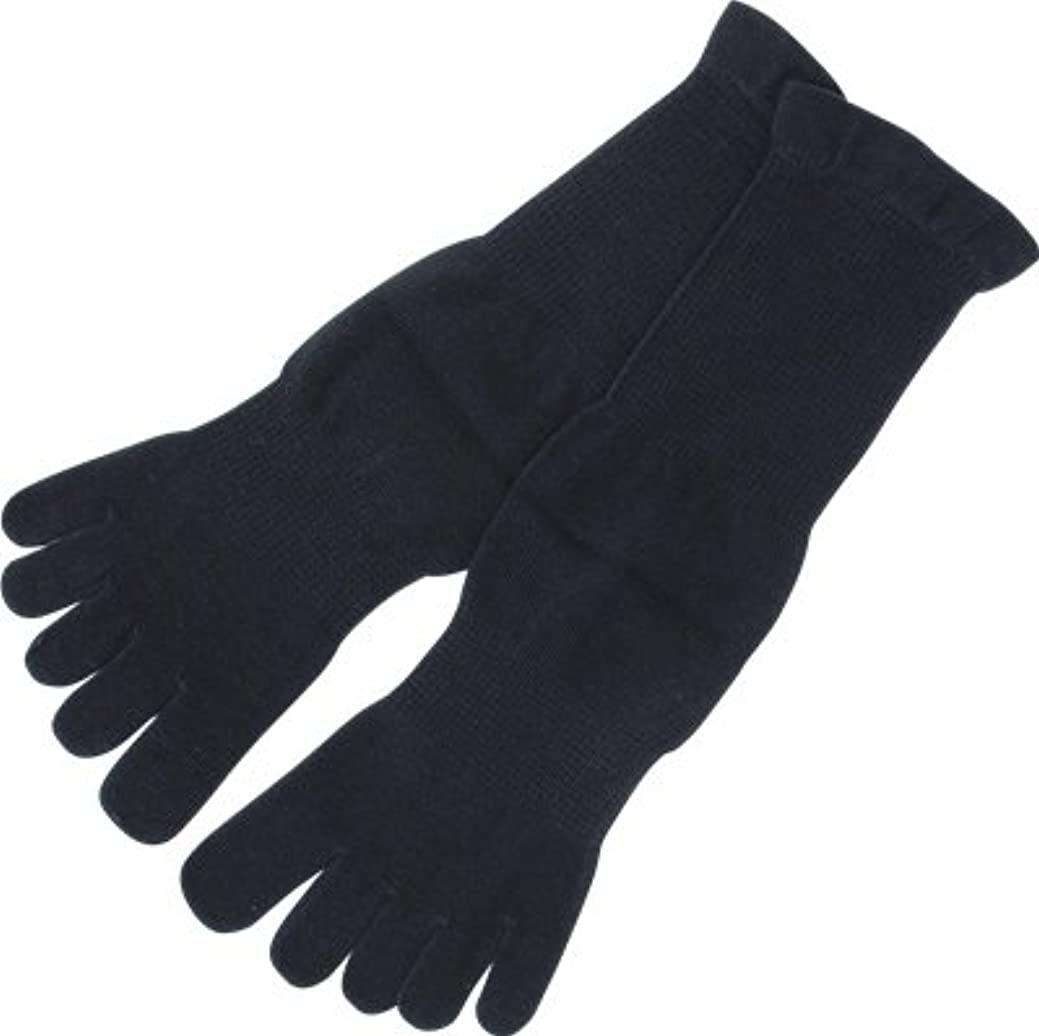 想像力中央値ヤギフォロイング オーガニックコットン 裏糸なし5本指薄手ソックス 黒