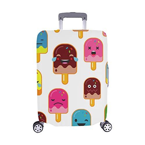 Popsicle Emotions Spandex-Trolley-Koffer Reisegepäck-Schutzkoffer-Abdeckung 28,5 X 20,5 Zoll