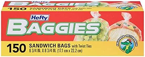Hefty Baggies Storage Bags (Sandwich