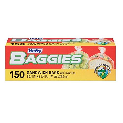 Best Price Hefty Baggies Storage Bags (Sandwich, Twist Tie, 150 Count)
