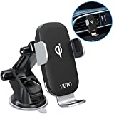 Car Phone Mount Wireless Charger, 10W Auto-Clamping Qi Fast Charging Car Charger Mount Dashboard Air Vent Phone Holder for iPhone SE, iPhone 11/11 Pro/11 Pro Max/XS Max, Galaxy S20/S20 Plus/Note10/S10