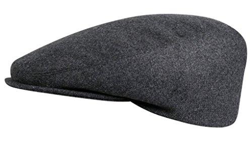 Flatcap in mehreren Farben 42019 by Fiebig (57, anthrazit)