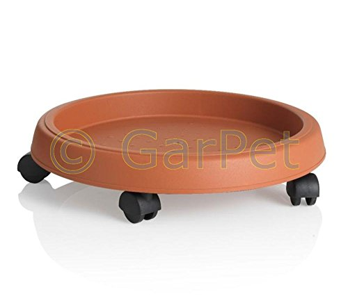 Pflanzenroller Rund Rollbrett Kübel Transport Blumen Topf Roller Untersetzer 35 cm