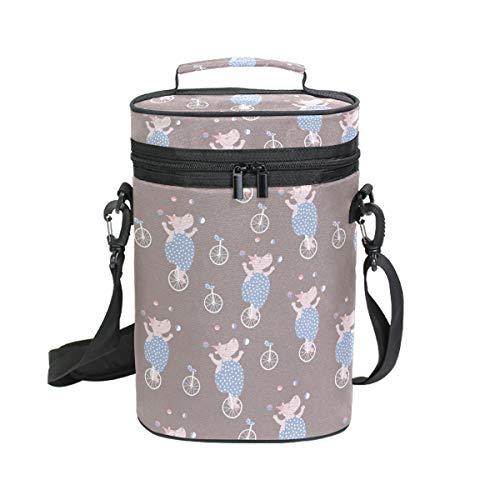 Hippo Kühltasche für Weinflaschen mit Griff und Schultergurt für Reisen und Jagd, Camouflage