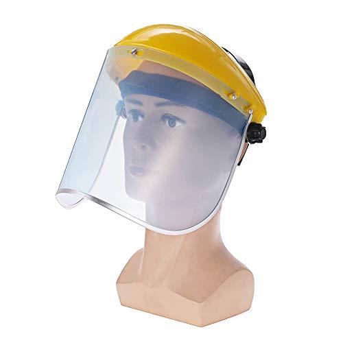 PICKME Chiaro Visiera Visiera Pieno Maschera, Protezione Completa Maschera Saldatura Casco Anti-UV di Protezione Trasparente Anti Splash Shield Visor sul Posto di Lavoro