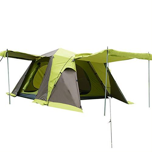 CCISS Draussen Automatisch 3-4 Leute Doppelschicht Camping Zelt Quadratische Oberseite 4 Türen Atmungsaktiv Wasserdicht Großer Raum Halle