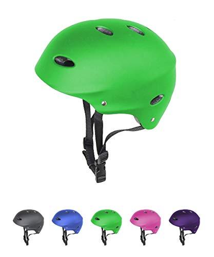 La Sports Junior KidsChildsChildrens Green Urban Skate Helmet Ideal For Skateboard BMX and Stunt Scooter Age Guide 3 8 years
