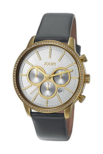 Joop! Damen Chronograph Quarz Uhr mit Leder Armband JP101712002