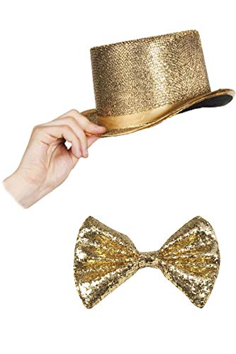 Marco Porta Silvester Outfit Zylinder Set (Gold)