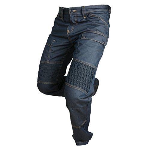 Overlap Jeans de Moto Road, Queroseno Azul Oscuro, 33
