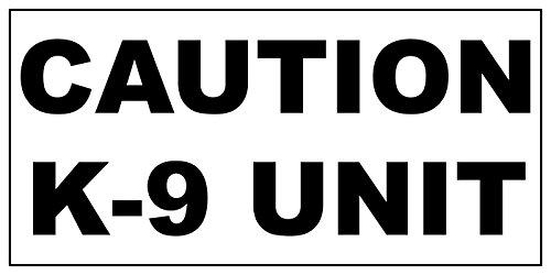 Caution K-9 Unit Black Car Door Magnets Magnetic Signs-Qty 2