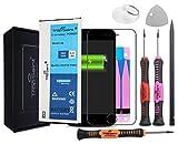 Trop Saint® Batería Interna Compatible con iPhone SE - (1624mAh/3,82V) Incluye Instrumentos, Pegatinas Adhesivas y Vidrio Templado