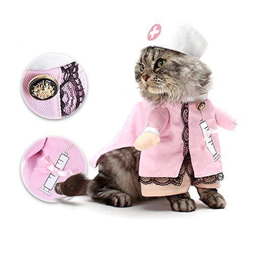Hond Kat Verpleegkundige Kostuum Huisdier Verpleegkundige Kleding Halloween Jeans Outfit Kleding, S