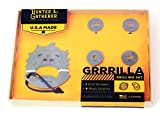 Zootility Hunter & Gatherer GRRRILLA Stainless Steel Grill Scraper/Meat Charms 5 pc.