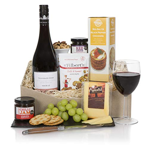 Hamper For Him, Wine and Cheese Hampers, Luxury Food and Wine Gift Hamper Basket