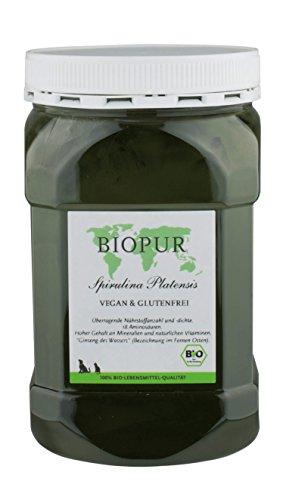 Biopur Bio Aanvullende voering voor honden Spirulina Platensis poeder, per stuk verpakt (1 x 400 g)