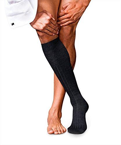 FALKE Herren No. 2 Finest Cashmere M KH Socken, Grau (Anthracite Melange 3080), 41-42 (UK 7-8 Ι US 8-9)