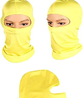 The sales leader motorcycle mask cycling ski neck protection open Balaclava full mask Ultra thin breathable windproof (yellow)