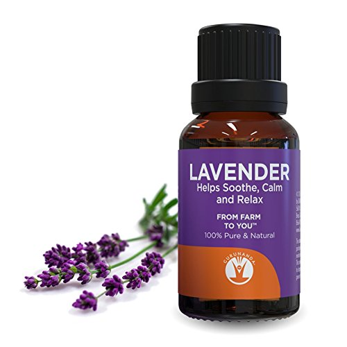 GuruNanda Lavender Essential Oil  Pure Therapeutic Grade Oil for Stress Relief Calm and Relaxed Sleep Soothing Oil for Diffuser 15 ml