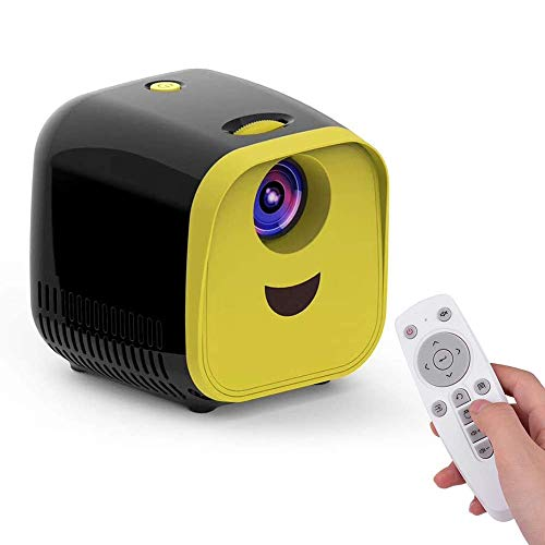 XIAOKUKU Children Cartoon Projector, Wireless Mini Projector, 1080P Home High-Definition Projector Built-In LED Speaker 1000 Lumens Clear Display, Support TF/AUX/HDMI/USB