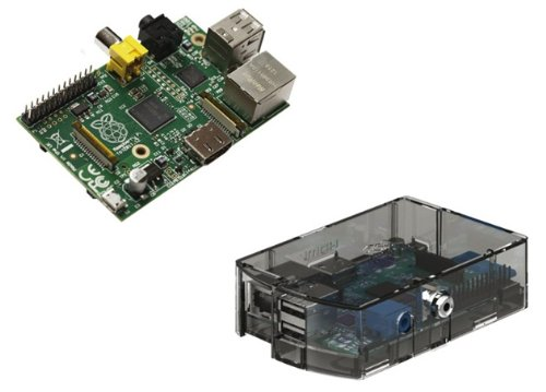 Raspberry Pi Type B 512MB ケースセット (clear) -