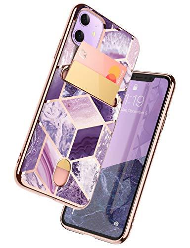 i-Blason Cosmo Wallet Slim Designer Wallet Case for Apple iPhone 11 (2019), Purple, 6.1'
