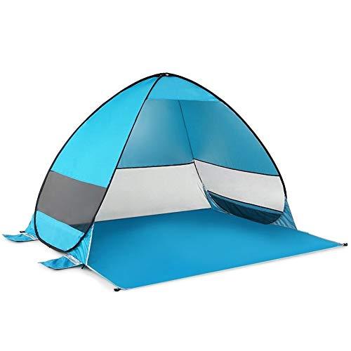 Cheniess Pop Up automática Tienda de la Playa Cabana portátil UPF 50+ Sun Refugio de Pesca Que acampa de Senderismo Canopy Fácil Montaje (Color : Blue)