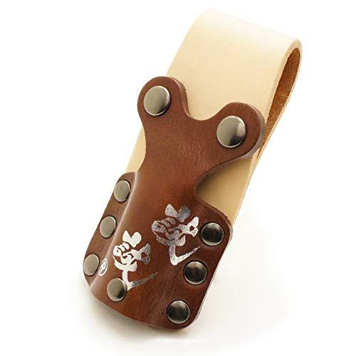 誠誠《釘袋 腰袋 腰道具 便利アイテム さしがねホルダー》 プチさし ブラウンナチュラル 【強力ネオジウム磁石付き】 GAN‐PS-N-Brown_006
