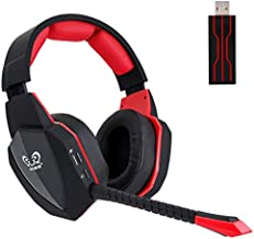 Wireless Gaming Headset for PS5 PS4 Nintendo Switch PC Laptop, Wireless Headset Over Ear 2.4GHz USB Connection Gaming Headphone with 7.1 Surround Sound & Detachable Microphone