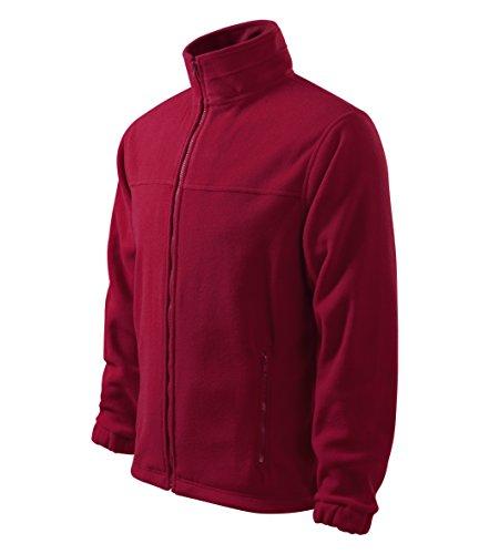 OwnDesigner by Adler Herren Fleecejacke Freizeitjacke Outdoor Pullover Fleece (501-Rot-M)