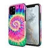 Funda para iPhone 11 Pro MAX Tie Dye Psychedelic RAD Hippie Colorful Swirl, Resistente a los Golpes,...