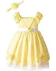 فستان ديزني بيوتي آند ذا بيست برينسيس بيل رول بلاي للفتيات